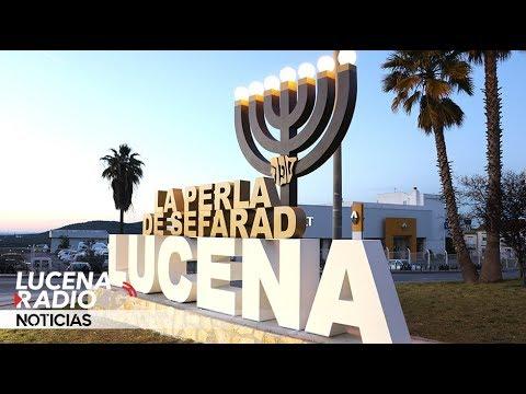 """VÍDEO: Una """"menorá"""" de tres metros de altura recuerda el pasado judío de Lucena a la entrada de la ciudad"""