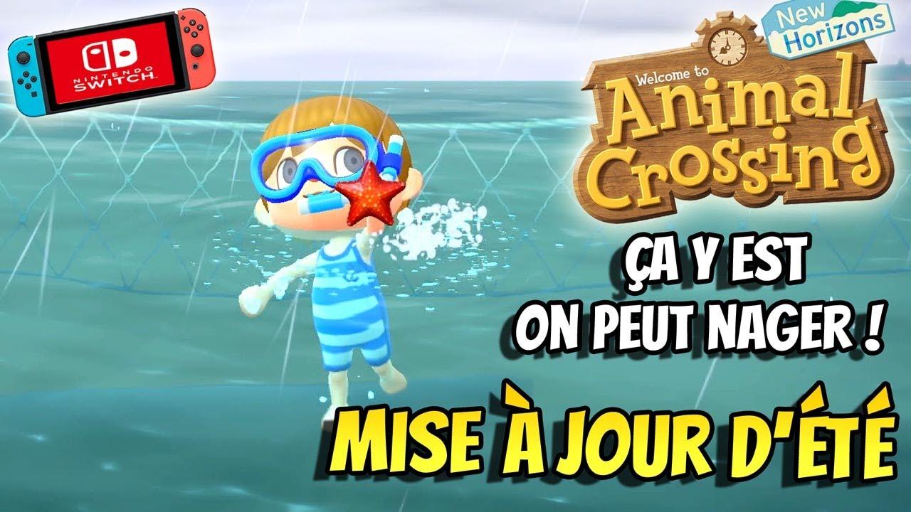 ANIMAL CROSSING NEW HORIZONS Mise à jour d'été J'explore les fond marins Gameplay Switch français