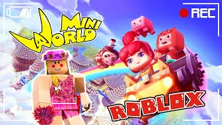 NOOB FACES +1000 H4CKERS IN MINI WORLD AND ROBLOX ! 🤓🦄✨ TipsyPlays
