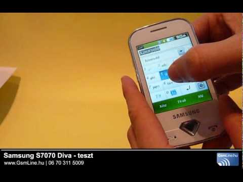 Samsung S7070 Diva teszt video | www.gsmline.hu
