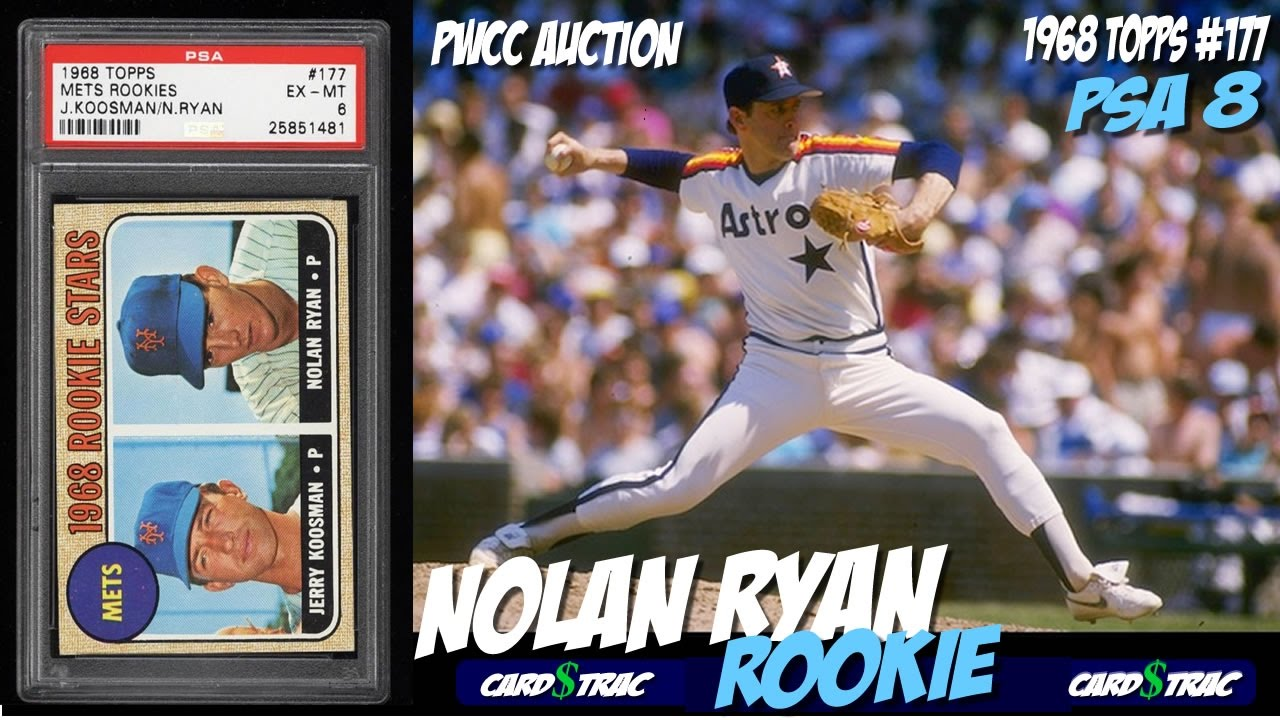 1968 Nolan Ryan Topps Rookie Card 177 For Sale Graded Psa 8 1968 Nolan Ryan Rookie Card