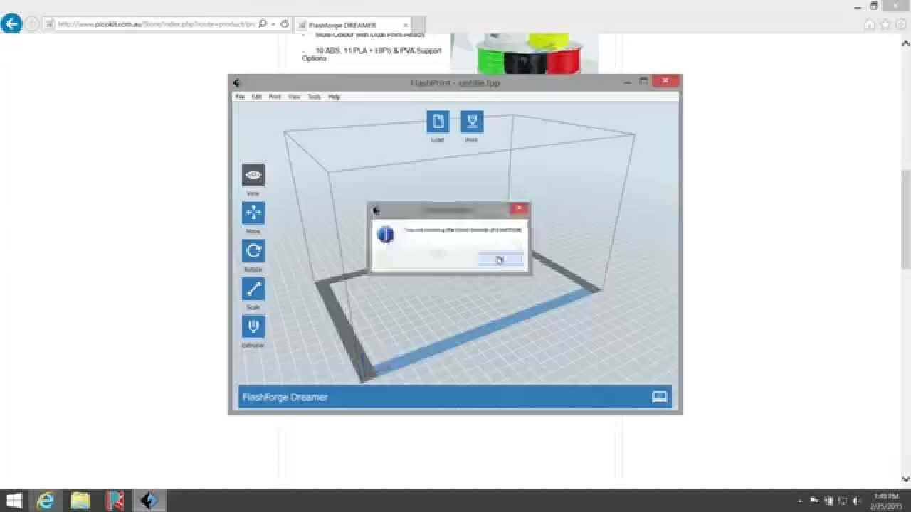 Flashprint Windows Pc Software Install Part 3 Flashforge