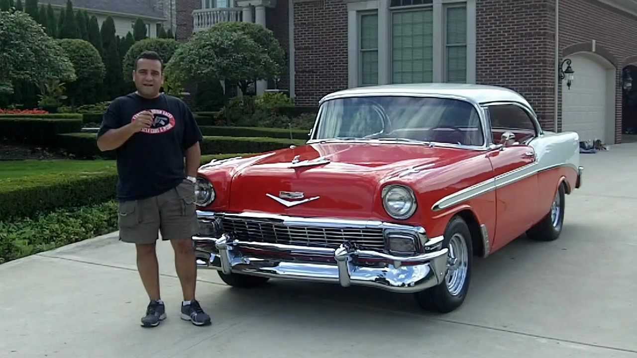 1956 chevy bel air classic muscle car for sale in mi vanguard motor sales youtube. Black Bedroom Furniture Sets. Home Design Ideas