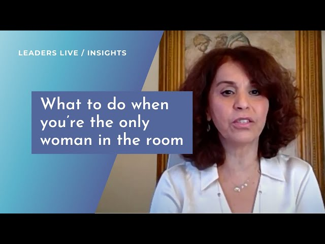 What to do when you're the only woman in the room | Leaders LIVE Insights