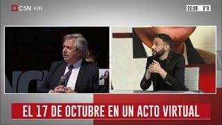 ¿Cómo será el acto virtual del 17 de octubre?