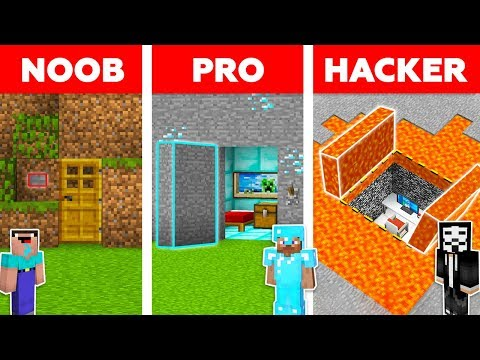 Minecraft NOOB vs PRO vs HACKER: HIDDEN HOUSE BUILD CHALLENGE in Minecraft / Animation
