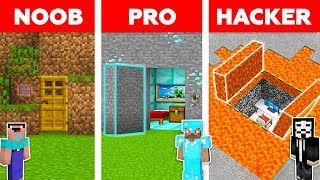 Minecraft NOOB vs PRO vs HACKER: HIDDEN HOUSE BUILD CHALLENGE in Minecraft / Animation