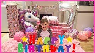 Islas 7th Birthday Kids Opening Presents!!