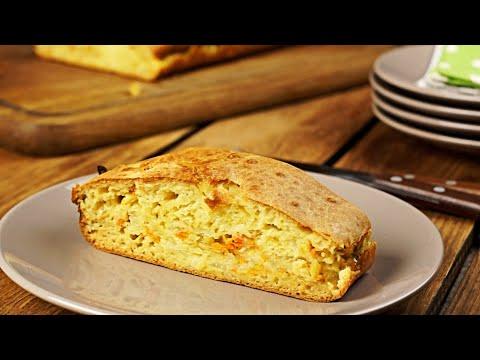 Заливной пирог с капустой на кефире – рецепт в духовке