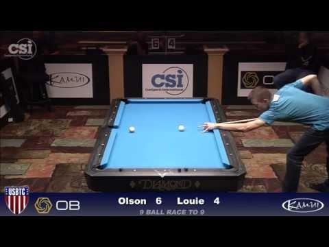 2015 USBTC 9-Ball: Danny Olson vs Dan Louie (Part 2)