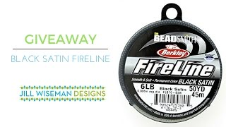 Giveaway! New Black Fireline!
