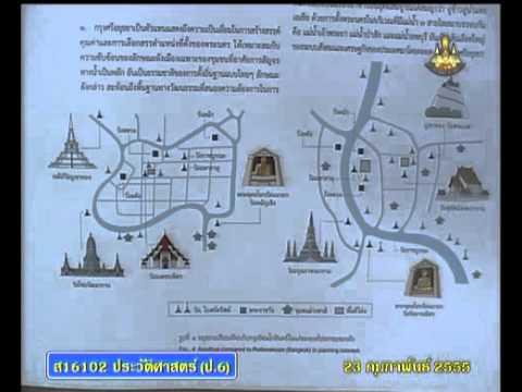 117 P6his 550223 A historyp 6 แผนผังกรุงรัตนโกสินทร์เปรียบเทียบกับกรุงอยุธยา