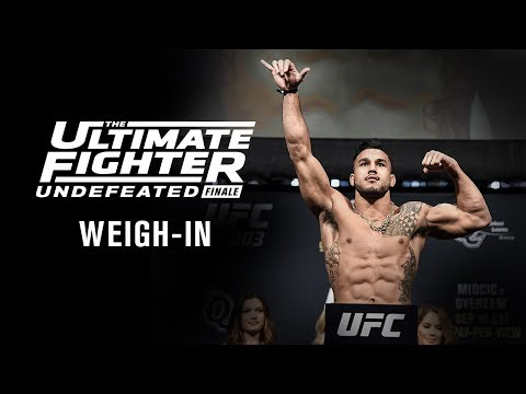 The Ultimate Fighter 27 Finale: Weigh-in