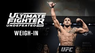 The Ultimate Fighter 27 Finale: Weigh-in Video and Results