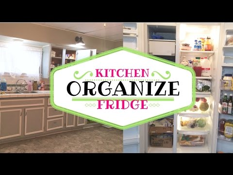 HOW I ORGANIZE MY KITCHEN+FRIDGE
