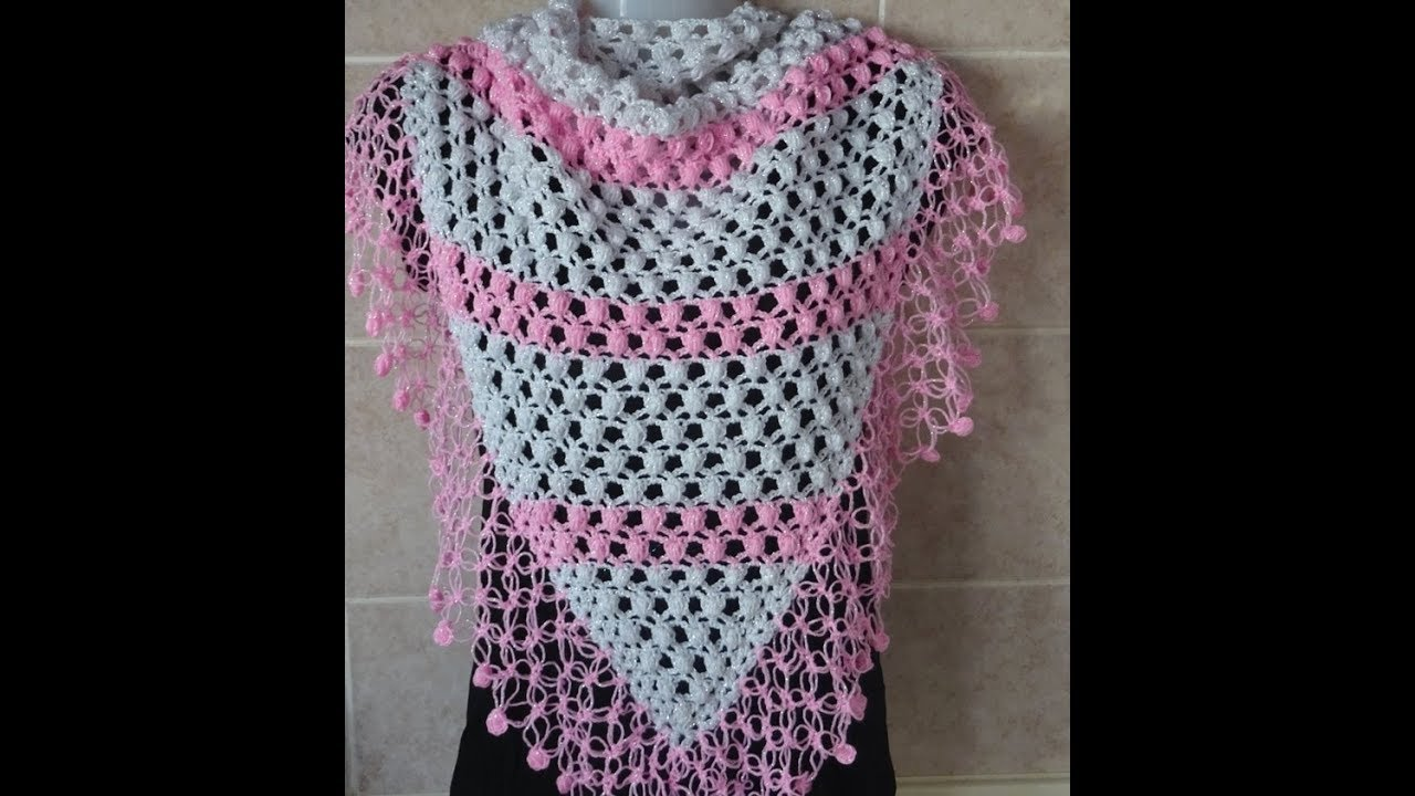 Crochet Pattern* VERY PRETTY AND EASY CROCHET SHAWL * - YouTube