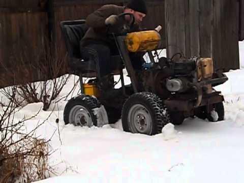 Трактор с ломающейся рамой из урала Снег смотреть в хорошем качестве