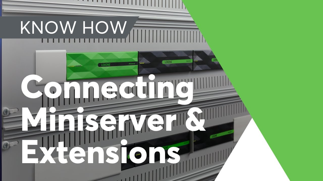 Wiring Guide Connecting Your Miniserver Extension Youtube Basics