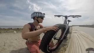 Riding a Fatbike to an Island?!  |  Tombolo to Charles Island CT