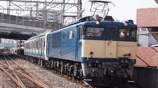 E131系R12編成 配給 武蔵浦和駅通過