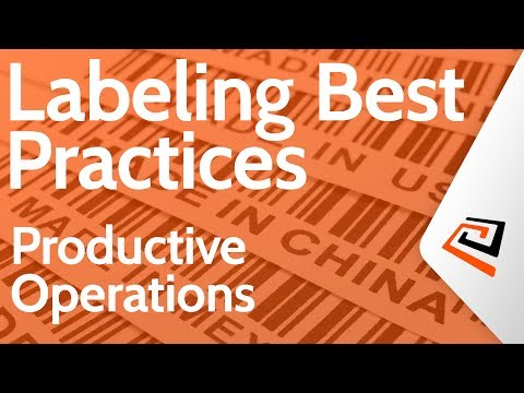 Productive Operations - Bartender Enterprise Labeling Best Practices