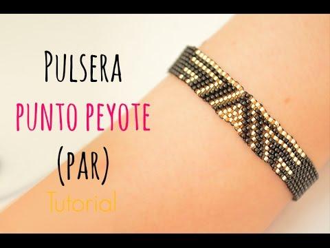 a29aa9e13e82 Cómo hacer una pulsera con punto peyote PAR (delicas miyuki) #36