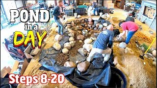 How to Build a Backyard Pond in ONE Day steps 8-20