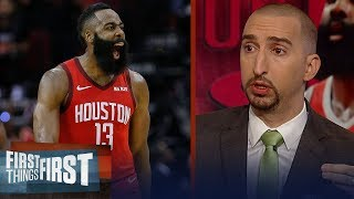 Nick Wright reacts to James Harden
