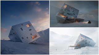 Competition Entry | Atelier 8000 Designs Cuboidal Mountain Hut For Slovakia's High Tatras