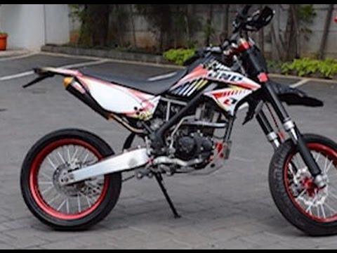 Kawasaki Klx  Modif Supermoto Youtube