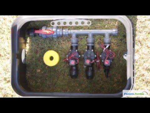 Instalaci n arqueta de riego para jardines youtube for Instalacion electrica jardin