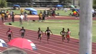 Jacobe Covington & Bijan Tolton USATF Arizona State Jr. Olympics 100 meter Final