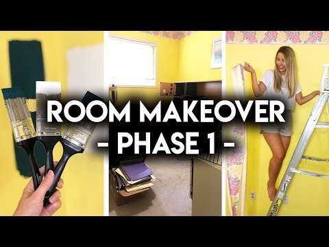 HOW TO REMOVE WALLPAPER + PICK PAINT **ROOM MAKEOVER**