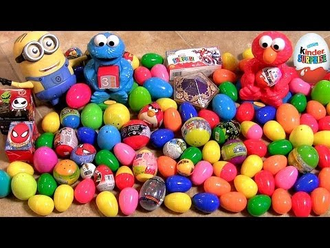 105 Surprise Eggs Kinder Surprise Trash Pack Lego Harry Potter Pixar Cars TMNT Disney Cookie Monster