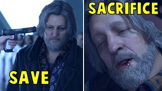 Connor Sacrifices vs Saves Hank - Every Single Choice - Detroit Become Human