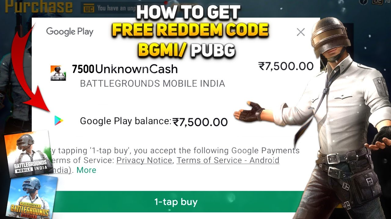 🔥How To Get Free Uc In Battleground Mobile India| Pubg Mobile Free Uc|Free Google Play Codes In BGMI