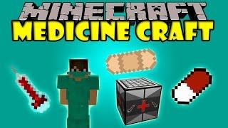 MEDICINECRAFT - Jeringas, pildoras, vendaje y mas! - Minecraft mod 1.6.4 y 1.7.10 Review ESPAÑOL