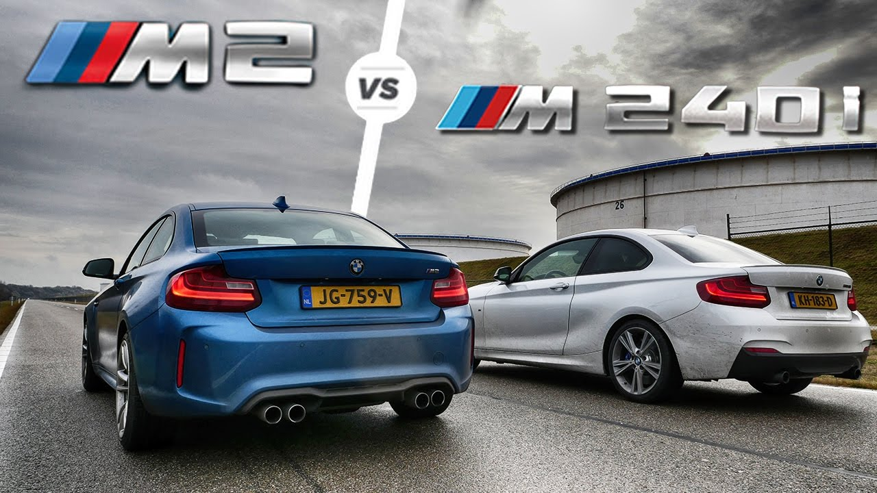 Bmw M2 Vs M240i Acceleration Sound Drag Race By Autotopnl Youtube