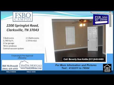 3 Bedroom House For Sale near Richview Middle School in Clarksville TN
