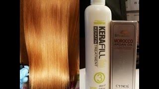 Кератиновое выпрямление волос Kerafill видео(Краткая видео - инструкция по применению кератинового комплекса Kerafill Keratin и демонстрация эффекта кератинов..., 2014-12-19T16:46:48.000Z)