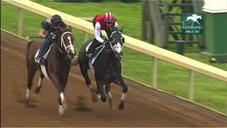 Tapwrit  (inside) works at Keeneland in prep for Kentucky Derby (April 21, 2017)