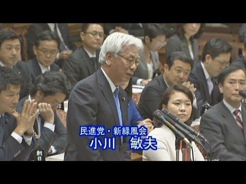 【2019年も森友】立民・小川敏夫氏の質問に安倍総理「それは小川さんの推測」