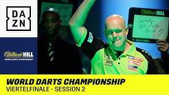 Van Gerwen gegen Hopp-Bezwinger: World Darts Championship | Viertelfinale - Session 2 | DAZN