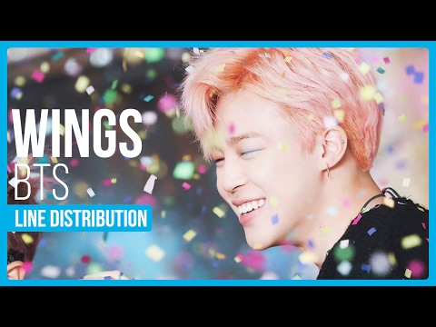 BTS - Wings Line Distribution (Color Coded)