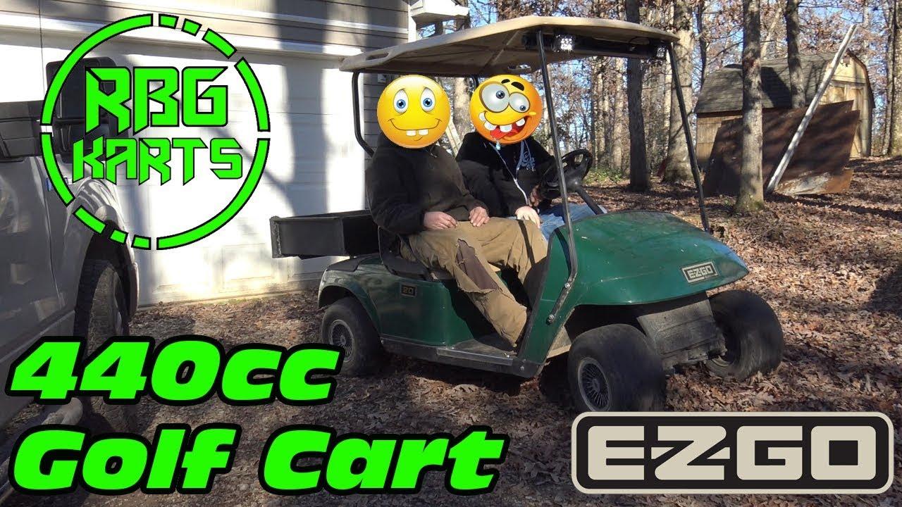 EZGO Golf Cart Engine Swap Test Drive