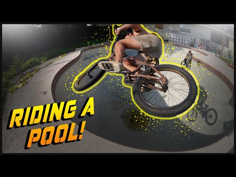 Riding a pool we drained out!