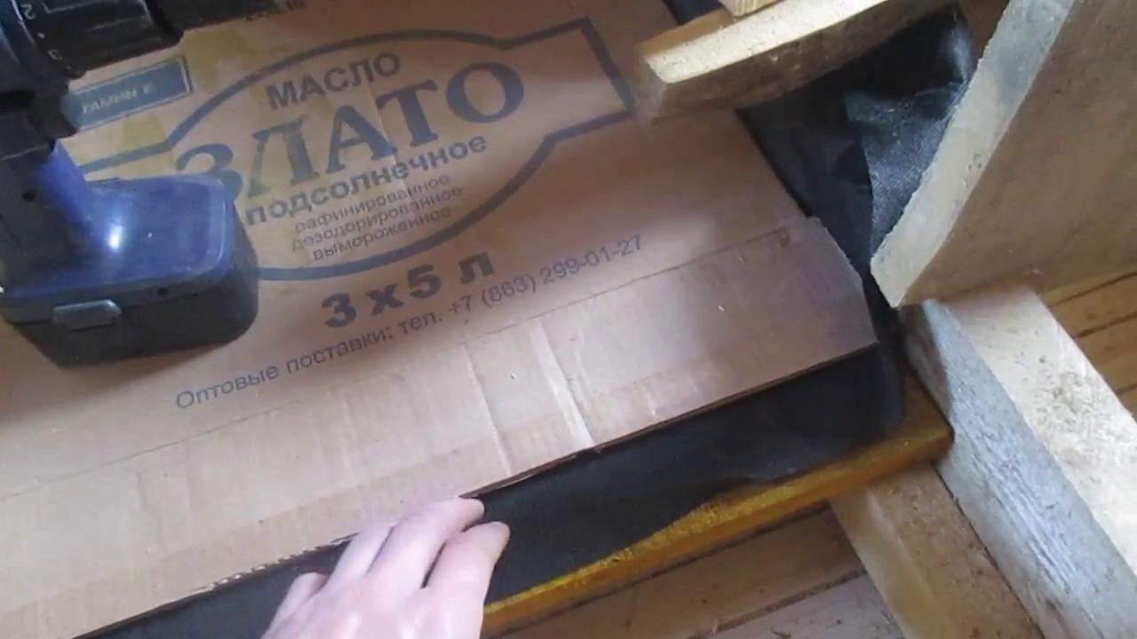 Утепляем потолок дома опилками с глиной экологично экономично и эффективно...
