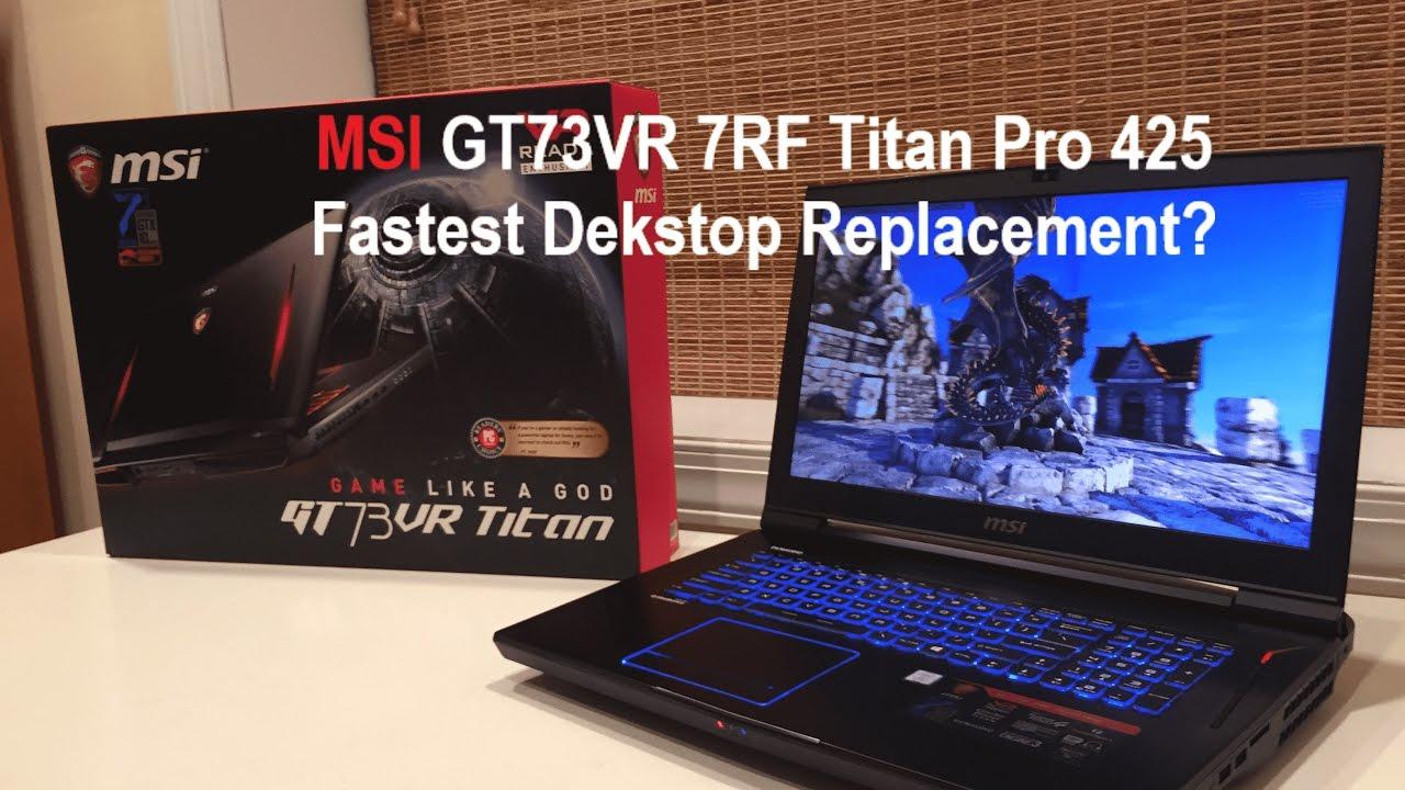 MSI GT73VR TITAN Descargar Controlador