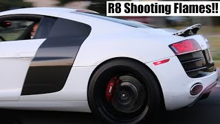 Insane Audi R8 Shooting FLAMES with Burble Tune!!