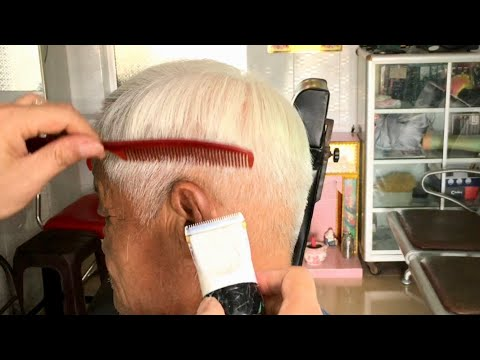 CÁCH CẮT KÊ LƯỢC TÓC CHẢI(chân phương)NTN , Cho Người Già,Đơn Giản  | Classic Simple, Men's Haircut
